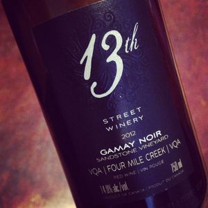 13th Street Winery Gamay Noir Sandstone Four Mile Creek 2012_300