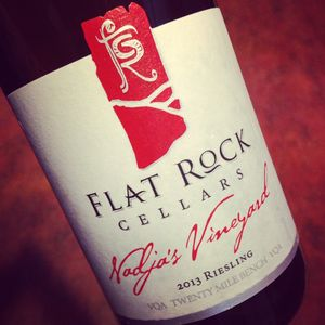 Flat Rock Cellars Nadja's Vineyard Riesling, Twenty Mile Bench 2013_300