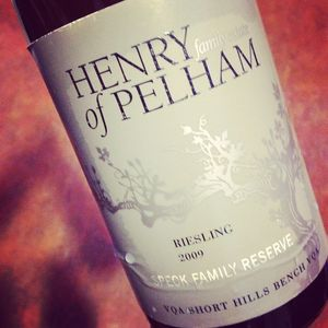 Henry of Pelham Family Estate Riesling Speck Family Reserve, Short Hill Bench 2009_300