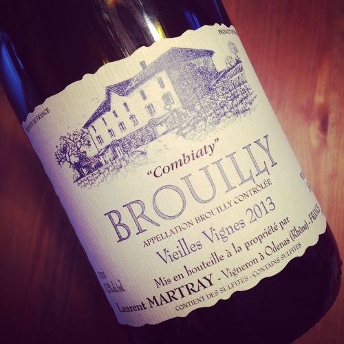Semaine du 27 septembre 2015 Domaine-Laurent-Martray-Brouilly-Combiaty-Vieilles-Vignes-2013_2