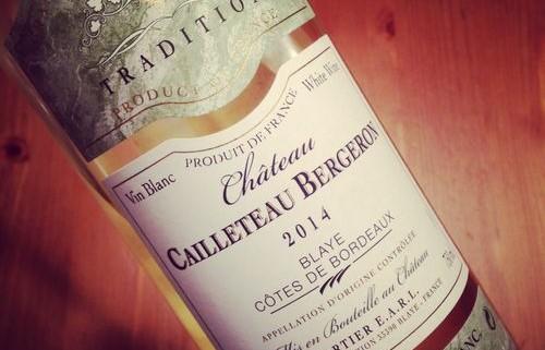 Château Cailleteau-Bergeron Blaye Côtes de Bordeaux 2014