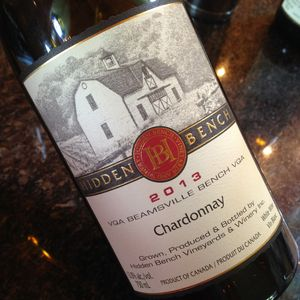 Hidden Bench Chardonnay Estate Beamsville Bench 2013