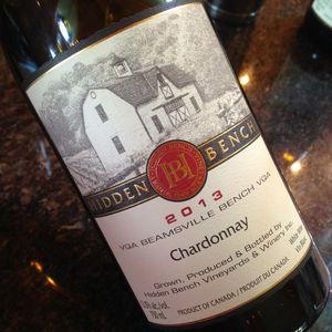 Hidden Bench Chardonnay Estate Beamsville Bench 2013