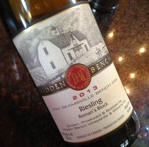 Hidden Bench Riesling Roman's Block Beamsville Bench 2013