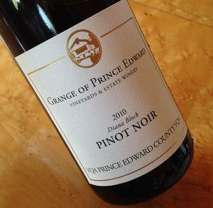 Grange of Prince Edward Diana Block Pinot Noir