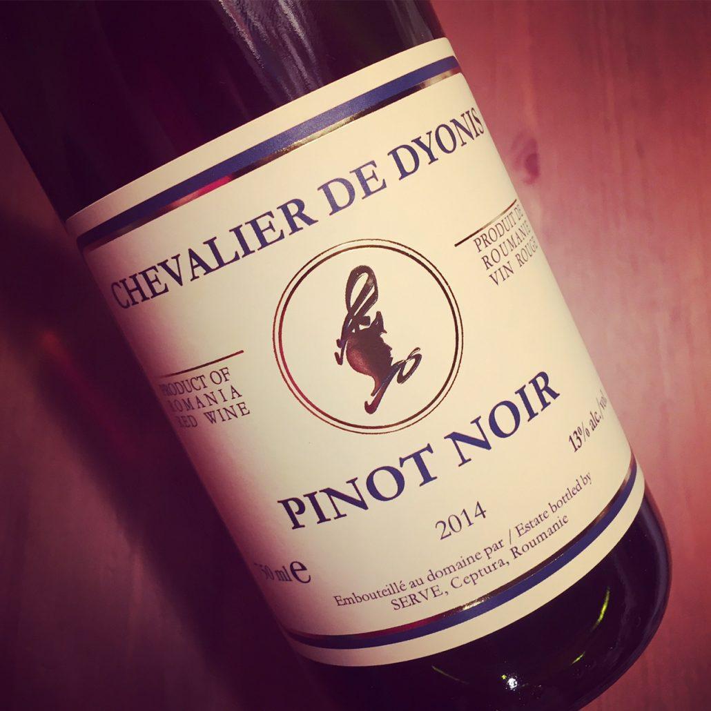 dyonis  Chevalier de Dyonis Pinot Noir Dealu Mare 2014 - Dans mon verre