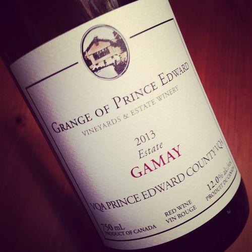 Grange of Prince Edward Estate Gamay VQA Prince Edward County 2013