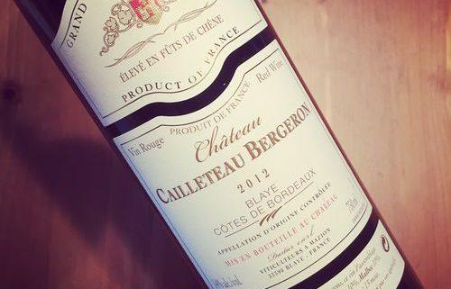Château Cailleteau Bergeron Blaye Côtes de Bordeaux 2012