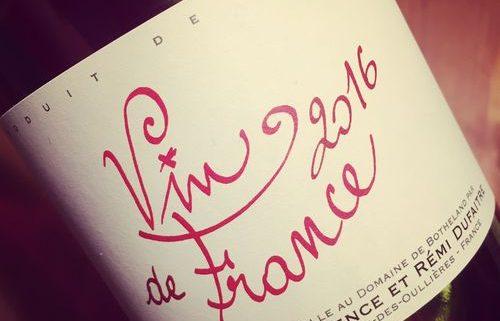 Laurence et Rémi Dufaitre Vin de France Nouveau 2016