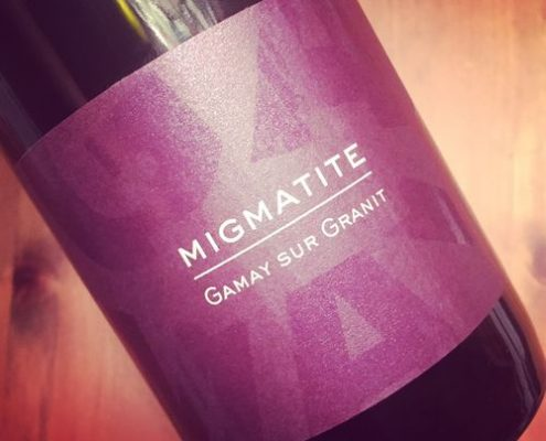 Gilles Bonnefoy Migmatite Gamay sur Granit Côtes du Forez 2015