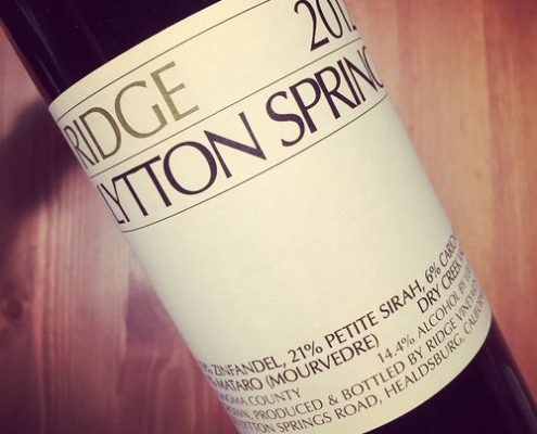 Ridge Vineyards Lytton Springs Dry Creek Valley Sonoma 2012