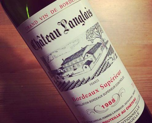Château Langlais Bordeaux Supérieur 1988