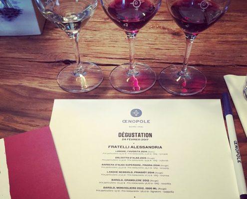 Dégustations de vins de chez Fratelli Alessandria
