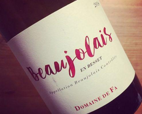 Domaine de Fa Beaujolais En Besset 2014