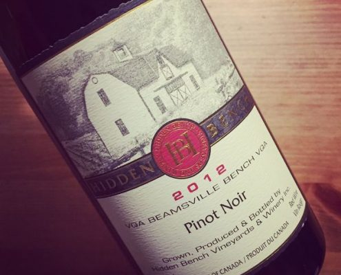 Hidden Bench Estate Pinot Noir Beamsville Bench VQA 2012