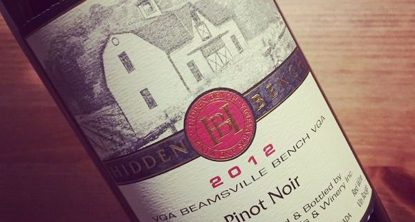 Hidden Bench Estate Pinot Noir Beamsville Bench VQA 2012