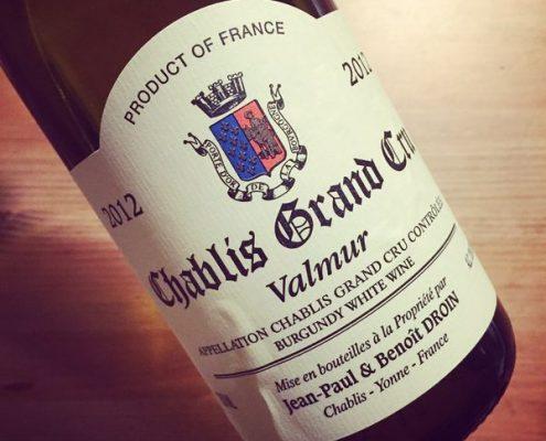 Jean-Paul & Benoit Droin Chablis Grand Cru Valmur 2012