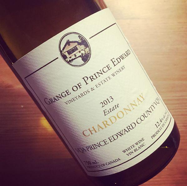 Grange of Prince Edward Estate Chardonnay VQA Prince Edward County 2013
