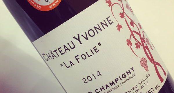 Château Yvonne La Folie Saumur-Champigny 2014