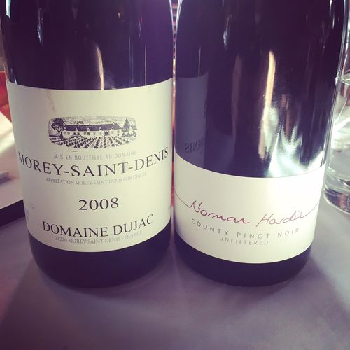 Norman Hardie County Pinot Noir 2008 VS Domaine Dujac Morey-Saint-Denis 2008