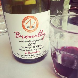 Georges Descombes Brouilly 2015