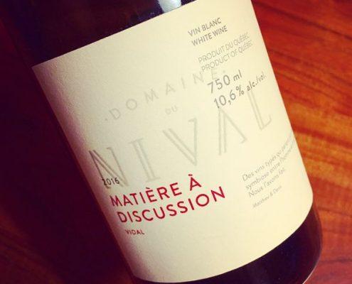 Domaine du Nival Matière à Discussion 2016
