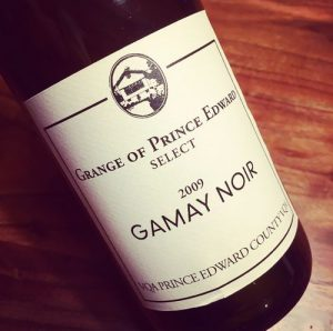 Grange of Prince Edward Select Gamay Noir VQA Prince Edward County 2009