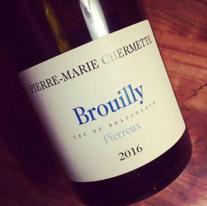 Pierre-Marie Chermette Pierreux Brouilly 2016