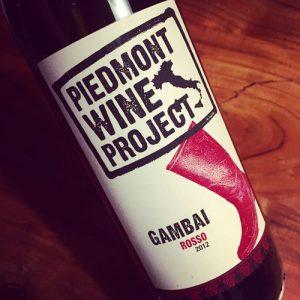 Piedmont Wine Project Gambai Rosso Piemonte DOC 2012