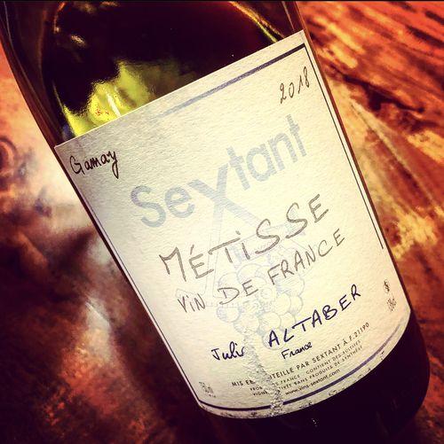 Julien Altaber Sextant Métisse Gamay Vin de France 2018